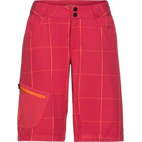 VAUDE Craggy Naiset pyöräilyhousut , punainen